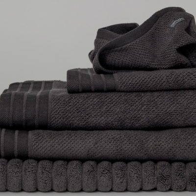 7. Bath Towels in Charcoal