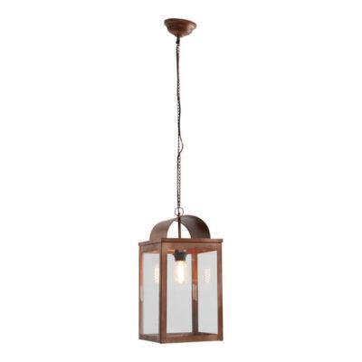 copper lantern pendant